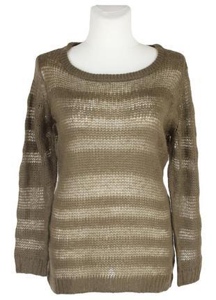 Вязаный коричневый пуловер solo