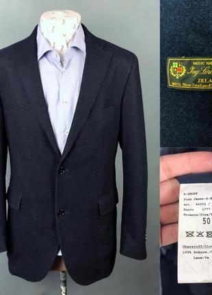Loro piana wool by eduard dressler шерстяной приталенный блейзер пиджак , 50 л