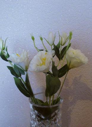Искусственные цветы эустома (белая)