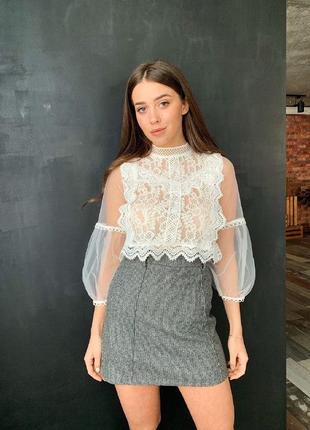 Блузка укороченная блузка короткая