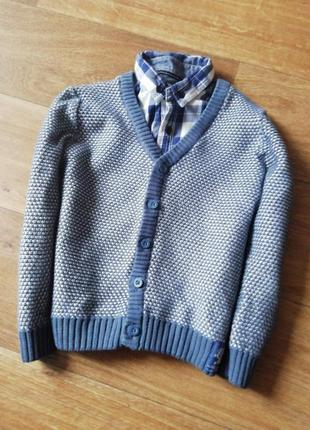 Джемпер и рубашка, кофта, полувер, обманка
