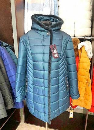 Куртка обшита норкою //зима/сезонні знижки