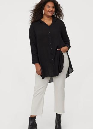 H&m удлиненная блуза туника из тонкой вискозы, р.xl на ог до 116 см