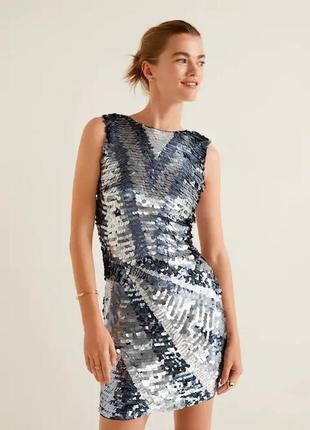 Новое эффектное платье в пайетки от mango