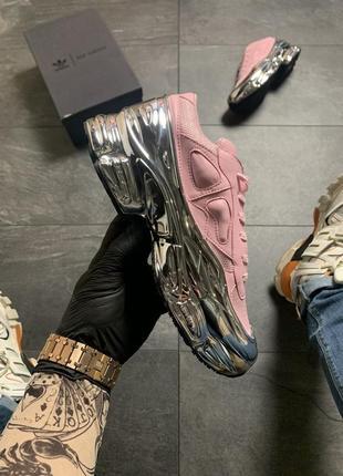 Женские кроссовки 🔥 adidas raf simons pink silver2 фото