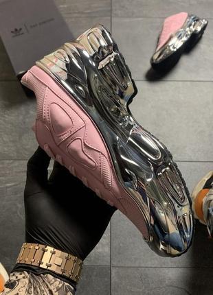 Женские кроссовки 🔥 adidas raf simons pink silver3 фото