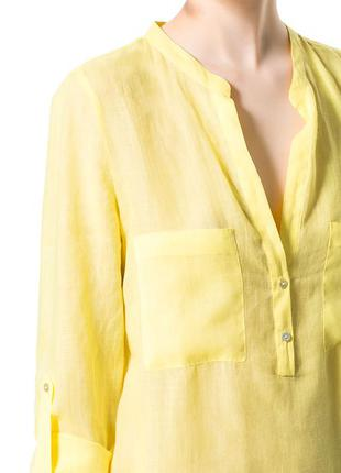 Zara лимонная блуза эко ткань