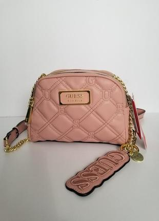 Crossbody guess lolli pink (сумка, клатч) , пудра1 фото