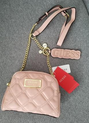 Crossbody guess lolli pink (сумка, клатч) , пудра2 фото