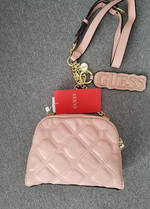 Crossbody guess lolli pink (сумка, клатч) , пудра3 фото