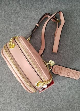 Crossbody guess lolli pink (сумка, клатч) , пудра4 фото