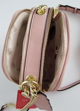 Crossbody guess lolli pink (сумка, клатч) , пудра6 фото