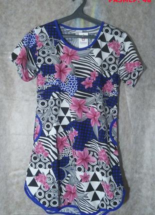 "Платье-туника ""zamina"" , 100% хлопок. размер 48-56"