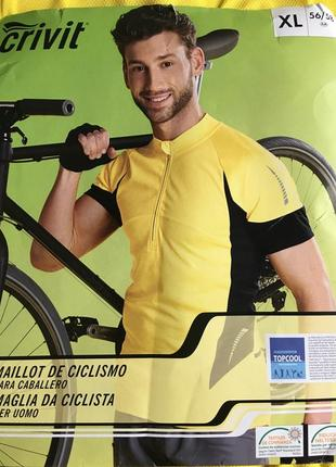 Вело футболка мужская  crivit черно/жёлтая