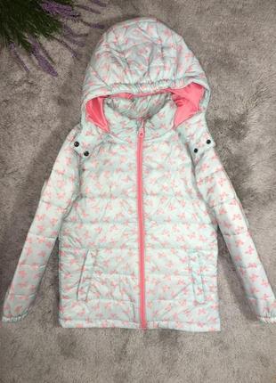 Куртка стеганная деми девочке impidimpi, 5-6 лет