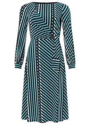 Monsоon, модное платье в разноцветную полоску, 16-й размер