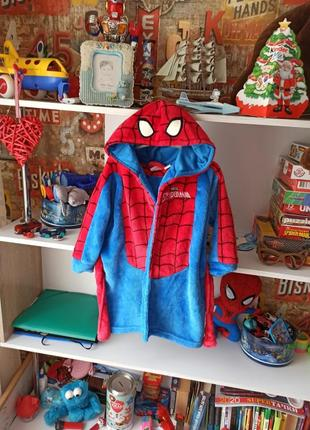 Плюшевый халат primark marvel  spiderman человек паук 3-4 года, 98-104