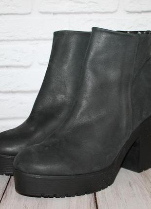 Кожаные ботинки mango 41 размер 100% натуральная кожа