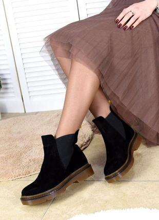 Замшевые демисезонные ботинки2 фото