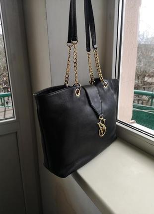 Кожаная сумка victoria's secret