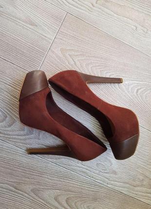 Туфли stradivarius шоколадные
