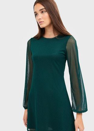 Платье stradivarius зеленое изумрудное