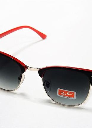 Очки солнцезащитные ray ban 3016 черно-красные