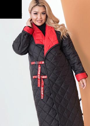 Женское демисезонное двухстороннее пальто размеры:48-58