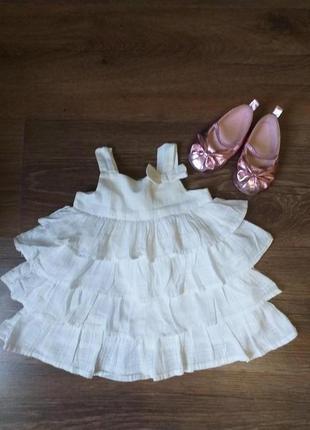 Милое платье для малышки на 0-3 месяца