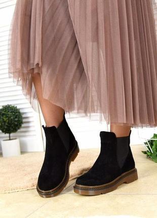 Замшевые демисезонные ботинки4 фото