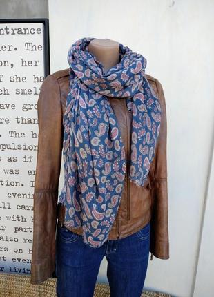 100% вискоза шарф палантин парео платок узор огурец