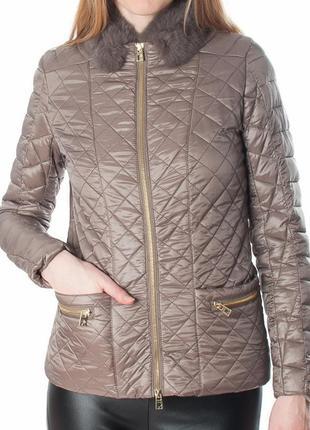 Куртка деми rinascimento с мехом кролика