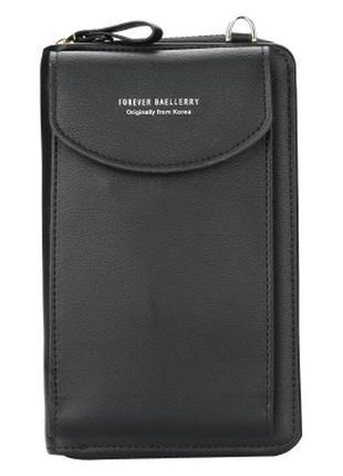 Женский кошелек клатч baellerry (n8591) черный