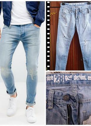 Golf denim зауженные рваные тертые джинсы , р. 28