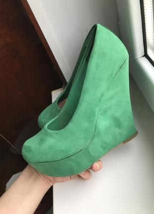 Туфли на платформе, высокие