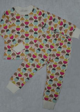 Детская пижама для девочки пирожное (р.92-128 см)(интеркидс, украина)