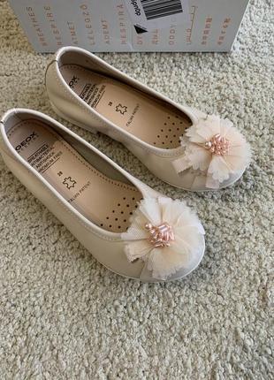 Балетки geox plie, туфли geox для девочки, р. 28, 30