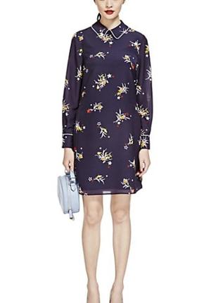 M&s limited мегастильное платье туника с воротничком, р.12, s-m