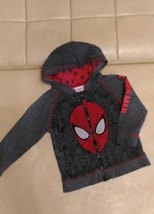 Толстовка george человек-паук, на возраст 2-3года,