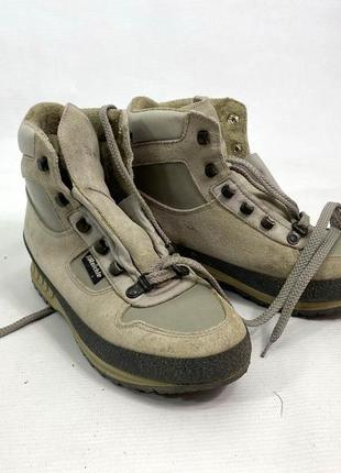 Ботинки треккинговые raichle, кожа, серые