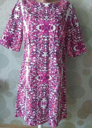 Изумительное платье миди в цветочный принт большого размера
