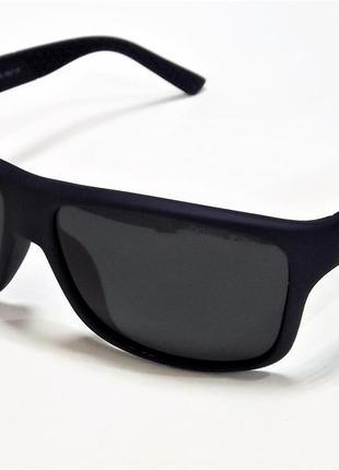 Очки солнцезащитные armani синие матовые с поляризацией