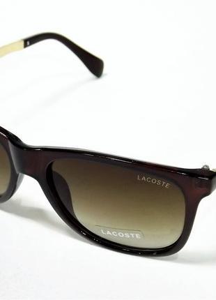 Очки солнцезащитные lacoste 722 коричневые глянец