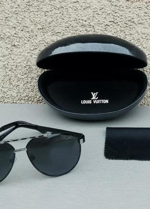 Louis vuitton очки капли мужские солнцезащитные черные поляризированые