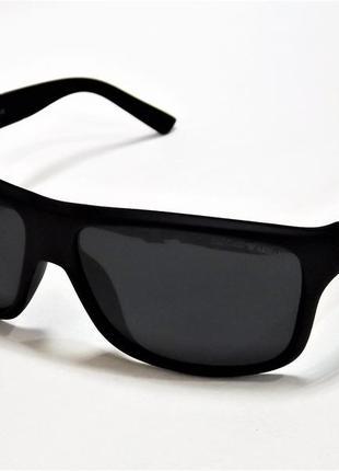 Очки солнцезащитные armani 4038 черные матовые с поляризацией.