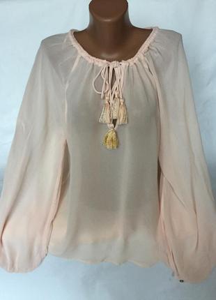 Воздушная блуза , свободный крой