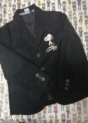 Стильный пиджак snoopy вельвет