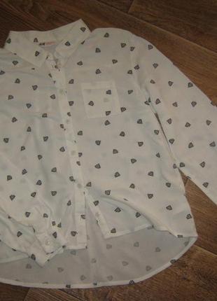 Рубаха в кристалах от h&m, 12-13лет      88грн