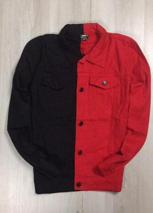 Без предоплат! s джинсовка джинсовая черная куртка красная курточка