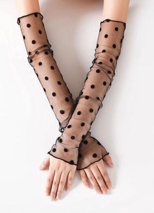 7-64 рукава съемные женские митенки нарукавники мітенки